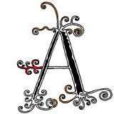 Decorative capital letter A Royalty Free Stock Image
