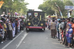 DECORATIVE CAR CARNIVAL IN CELEBRATION OF REGENCY SUKOHARJO Stock Photos