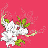 Decorative card. Universal template for greeting card, web page, background Stock Images