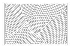 Decorative card for cutting. Geometric linear pattern. Laser cut panel. Ratio 2:3. Vector illustration.  Royalty Free Stock Photo