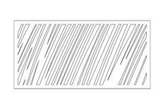 Decorative card for cutting. Geometric linear pattern. Laser cut panel. Ratio 1:2. Vector illustration.  Stock Images