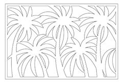 Decorative card for cutting. Palm leaf pattern. Laser cut panel. Ratio 2:3. Vector illustration.  Royalty Free Stock Photos