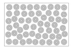 Decorative card for cutting. Repeat point pattern. Laser cut panel. Ratio 2:3. Vector illustration Royalty Free Stock Images