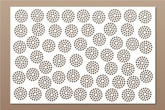 Decorative card for cutting. Repeat point pattern. Laser cut panel. Ratio 2:3. Vector illustration Stock Photos