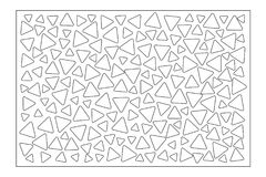 Decorative card for cutting. Repeat triangles pattern. Laser cut panel. Ratio 2:3. Vector illustration.  Stock Photography
