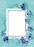 Decorative card with fancy ivy Stock Photos