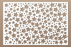 Free Decorative Card For Cutting. Decorative Star Pattern. Laser Cut Panel. Ratio 2:3. Vector Illustration Royalty Free Stock Image - 119129506