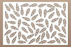 Free Decorative Card For Cutting. Ethnic National Pattern. Laser Cut Panel. Ratio 2:3. Vector Illustration Royalty Free Stock Photos - 119129638