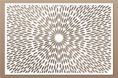 Free Decorative Card For Cutting. Scandinavian Style Pattern. Laser Cut Panel. Ratio 2:3. Vector Illustration Stock Photo - 119129530