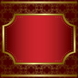 Decorative card with gold frame and texture - eps Stock Photo