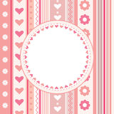 Decorative card with hearts Stock Photography