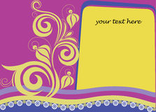 Decorative card with a letter and flower element Royalty Free Stock Images