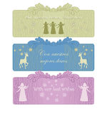 Decorative card. Decorative new year card with  silhouettes Stock Images