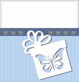 Decorative card present box Stock Photos