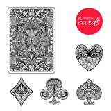 Decorative Card Suits Set Royalty Free Stock Photos