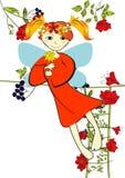 Decorative card with summer fairy Stock Photos