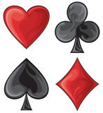 Decorative card symbols Royalty Free Stock Photo