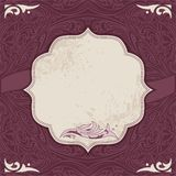 Decorative card vector template Stock Image