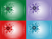 Decorative cards Stock Image