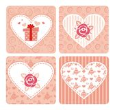 Decorative cards for Valentine's day Stock Photography