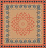 Decorative  carpet pattern Royalty Free Stock Photo