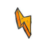 Decorative cartoon lightning bolt Stock Photos