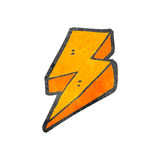 Decorative cartoon lightning bolt Stock Image