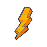 Decorative cartoon lightning bolt Royalty Free Stock Image