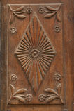 Decorative carved wood antique decoration of the building Royalty Free Stock Photography