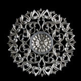 Decorative carving element Royalty Free Stock Photo