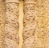 Decorative Carvings As Textured Background Stock Photo