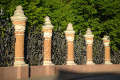Decorative cast-iron fence Stock Images