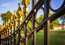 Decorative cast iron fence Royalty Free Stock Image