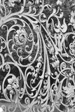 Decorative cast-iron fence Stock Photo