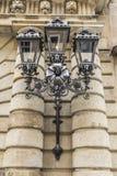 Decorative cast iron lamp Stock Photos