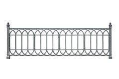 Decorative cast railings, fence. Stock Photo