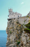 Decorative castle Swallow's Nest. Swallow's Nest. A decorative castle near Yalta on the Crimean peninsula in southern Ukraine Royalty Free Stock Photo