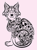 Decorative cat #1 Stock Images