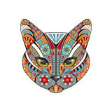 Decorative cat. Hand drawn vector illustration Royalty Free Stock Photos