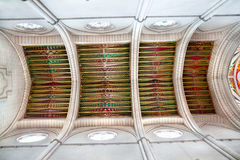 Decorative ceiling in the Cathedral of Almudena Stock Photos