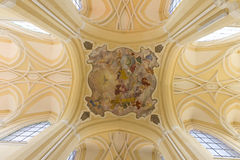 Decorative ceiling in the Cathedral of the Assumption of Our Lady Stock Images