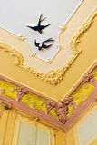 Decorative ceiling detail Stock Image