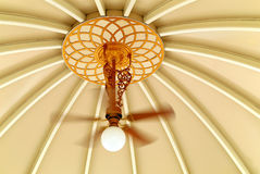 Decorative ceiling and fan Royalty Free Stock Image