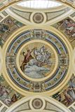 Decorative ceiling in a hot bath in Budapest Hunga Stock Images