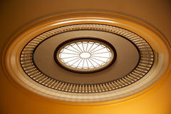 Decorative ceiling skylight. Details of a beautiful, decorative ceiling skylight or rotunda in the George Eastman House, Rochester, New York (USA stock images