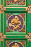 Decorative ceiling traditional chinese Royalty Free Stock Photo