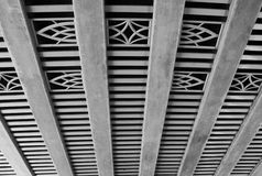 Decorative ceiling under the highway Stock Photography