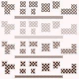 Celtic Borders. Decorative Celtic border vector elements Stock Photos