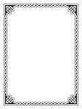 Decorative Celtic Frame Vector Illustration. Traditional Celtic braided border, black isolated on white Stock Illustration
