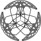 Decorative Celtic knot Royalty Free Stock Photo